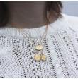Collar Dorado Amuleto Mandala Medalla Pequeña Plata 925